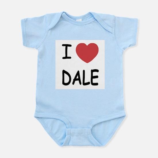 I heart dale Infant Bodysuit