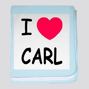 I heart carl baby blanket