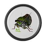 Cicada hi. Large Wall Clock