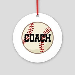 Baseball Coach Gift Ornament (Round)
