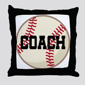Baseball Coach Gift Throw Pillow