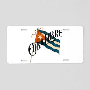 Cuba Libre Aluminum License Plate