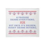 A PROMISE Throw Blanket