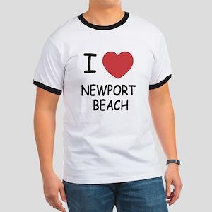 I heart newport beach Ringer T