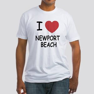I heart newport beach Fitted T-Shirt