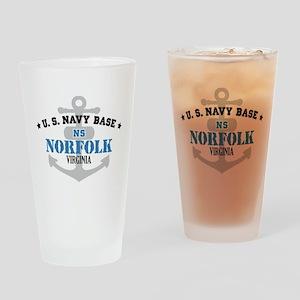 US Navy Norfolk Base Pint Glass