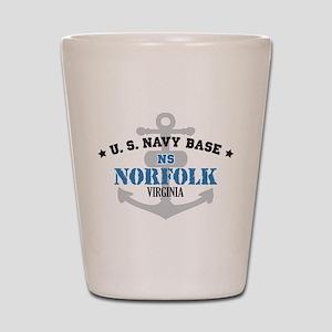 US Navy Norfolk Base Shot Glass