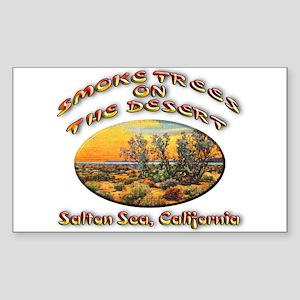 Smoke Trees On The Desert Sticker (Rectangle)