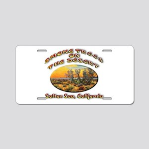 Smoke Trees On The Desert Aluminum License Plate