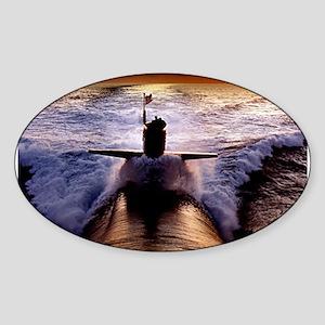 SSN Sunset Oval Sticker