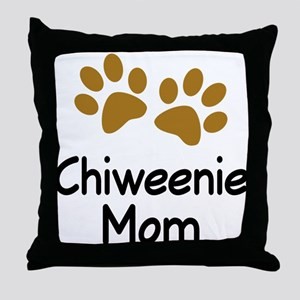 Cute Chiweenie Mom Throw Pillow