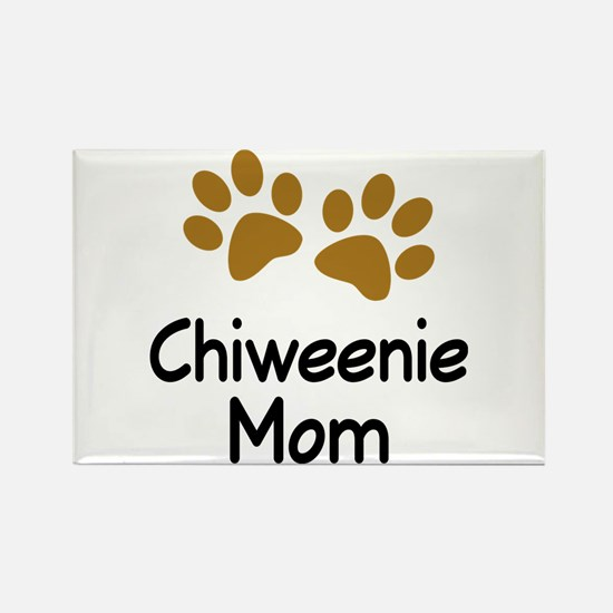 Cute Chiweenie Mom Rectangle Magnet