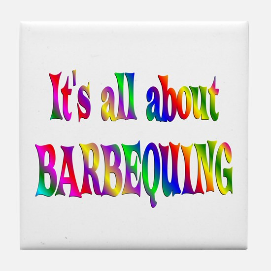 About Barbequing Tile Coaster