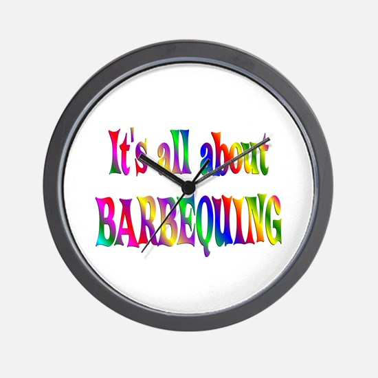About Barbequing Wall Clock