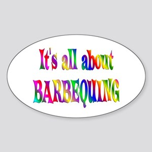 About Barbequing Sticker (Oval)