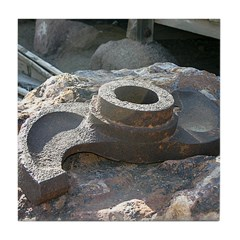 Goldfield Ghost Ore Hammer - Tile Coaster