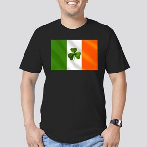 Irish Shamrock Flag Men's Fitted T-Shirt (dark)
