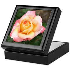 Pink and Cream Rose - Keepsake Box