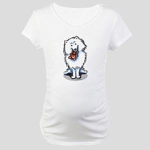 Eskie Samoyed Lover Maternity T-Shirt