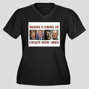 WHAT A JOKE Women's Plus Size V-Neck Dark T-Shirt