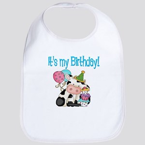 Kids birthday cow Bib