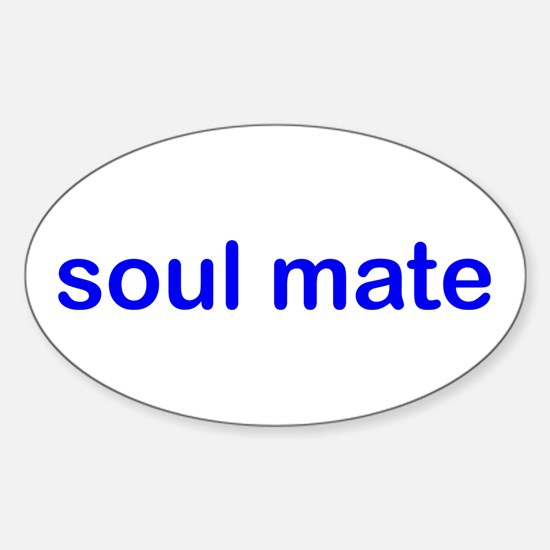 Soul Mate (blue) Oval Decal