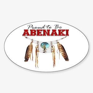 Proud to be Abenaki Sticker (Oval)