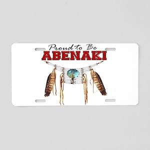 Proud to be Abenaki Aluminum License Plate