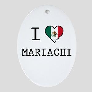 I Love Mariachi Ornament (Oval)