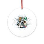 Cuddly Kittens Ornament (Round)
