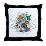 Cuddly Kittens Throw Pillow