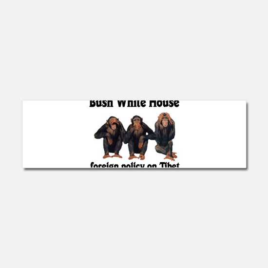 Bush Tibet Car Magnet 10 x 3