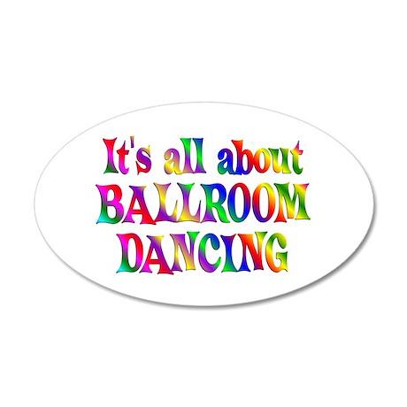 About Ballroom 22x14 Oval Wall Peel
