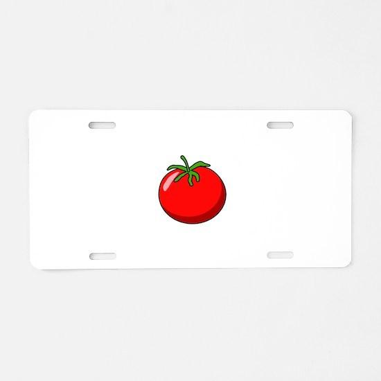 Cartoon Tomato Aluminum License Plate