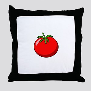 Cartoon Tomato Throw Pillow