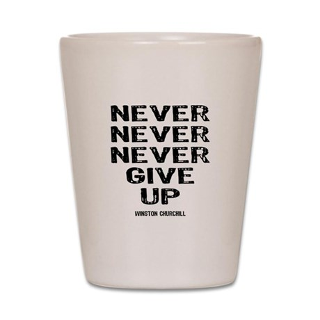 Never Give Up Shot Glass