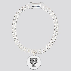 Never Give Up Charm Bracelet, One Charm