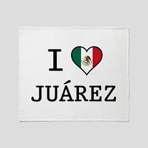 I Love Juarez Throw Blanket
