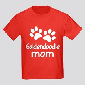 Cute Goldendoodle Mom Kids Dark T-Shirt