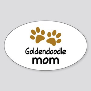 Cute Goldendoodle Mom Sticker (Oval)