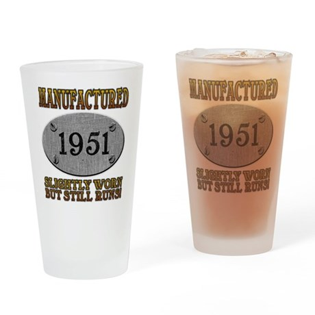 Manufactured 1951 Pint Glass