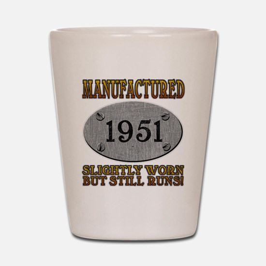 Manufactured 1951 Shot Glass