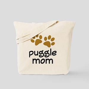 Cute Puggle Mom Tote Bag