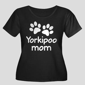 Cute Yorkipoo Mom Women's Plus Size Scoop Neck Dar