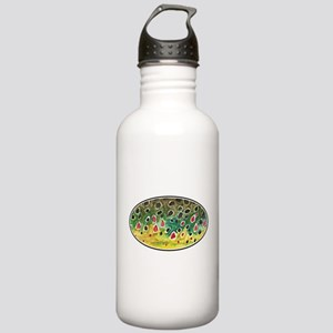 Brown Trout Fly Fishing Stainless Water Bottle 1.0