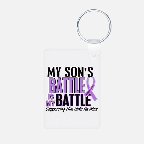 My Battle Too Hodgkin's Lymphoma Aluminum Photo Ke