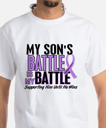 My Battle Too Hodgkin's Lymphoma White T-Shirt