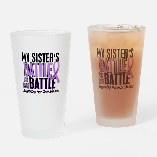 My Battle Too Hodgkin's Lymphoma Pint Glass
