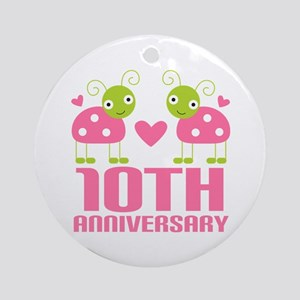 Tenth Anniversary Gift Ornament (Round)