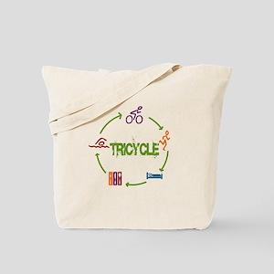 Tri Cycle Tote Bag